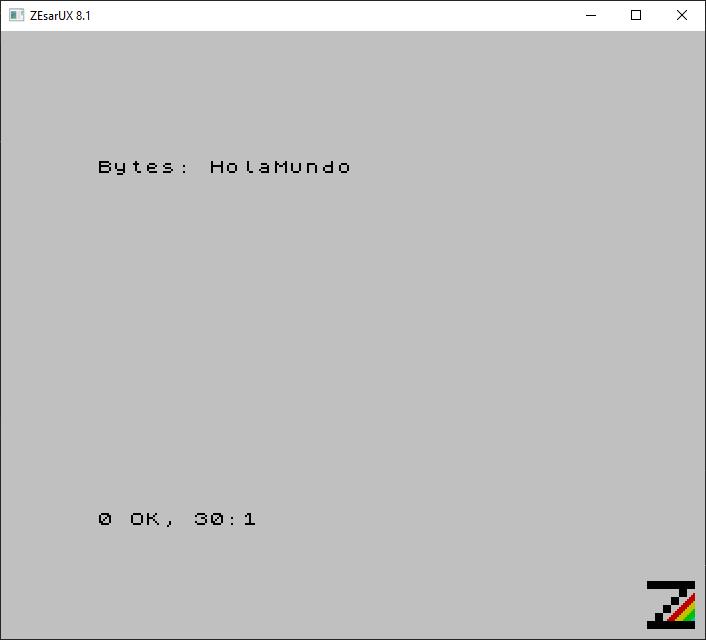 ZX Spectrum Pong, Hola Mundo, el primer programa